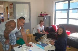 Young people at the Lanyon Drop-in centre