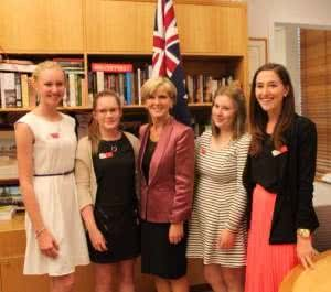 Country to Canberra winners with Julie Bishop