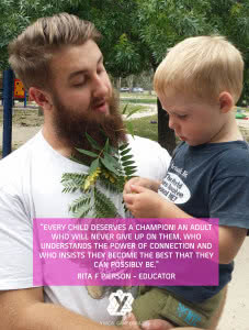 male educator with boy quote