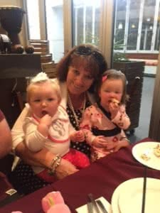 Jackie Green with granddaughters.