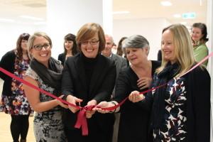 Kate, Meegan, Bernadette, Fran - ribbon cutting