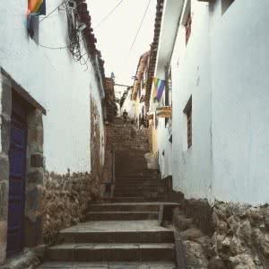 A street in Peru.
