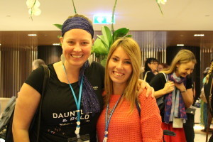 Caitlin with her good friend Sylvia from the YWCA of Argentina.