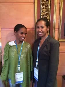 Prudencia and Mira from YWCA Timor-Leste.