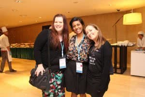 Louise, Abby and Sam, some of our YWCA Canberra delegates to World Council.