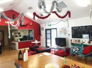 The Youth Cafe decked out for the Christmas Party.
