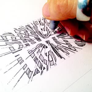 Hand drawing Bright Lights graphic