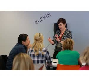 Clare facilitating a class