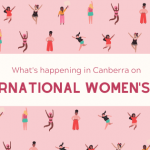 hats happening for IWD in Canberra graphics