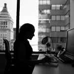 A woman in her workplace