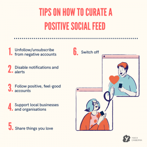 Curating a positive social media feed graphics