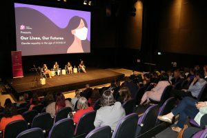 wide shot of IWD 2021 event