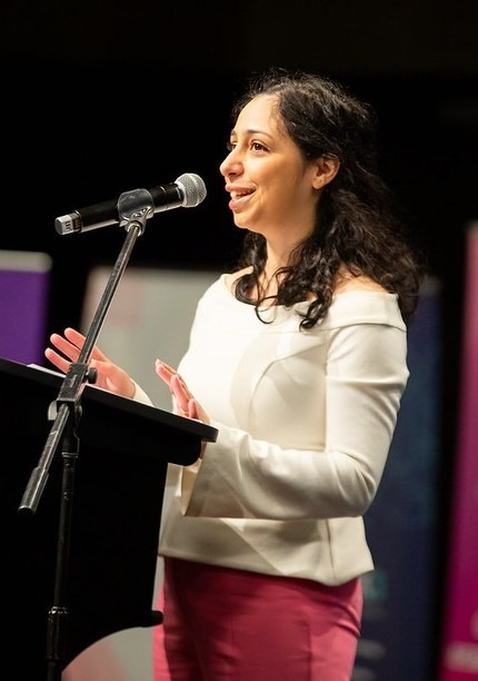 Image of Carina Zeccola presenting at our 2021 She Leads Conference